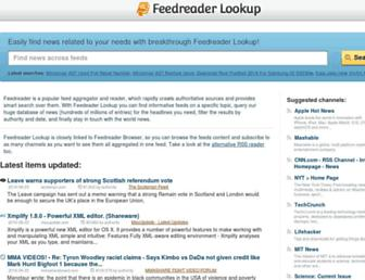 lookup.feedreader.com screenshot