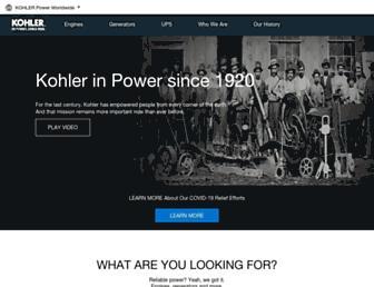 Main page screenshot of kohlerpower.ru