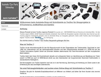 shopschnittstelle-zu-tecdoc.com screenshot