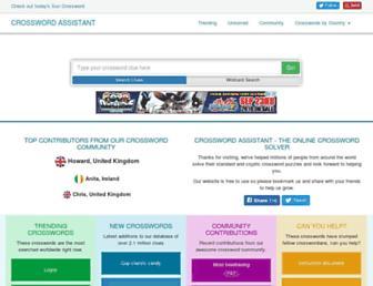 crosswordassistant.com screenshot