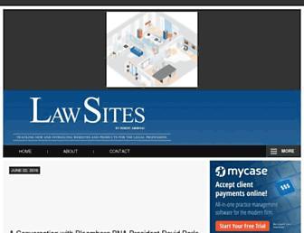 lawsitesblog.com screenshot