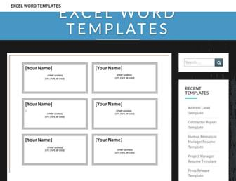 excelwordtemplate.com screenshot