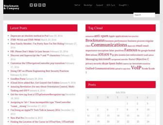 brockmann.com screenshot