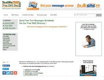 textmefree.com screenshot