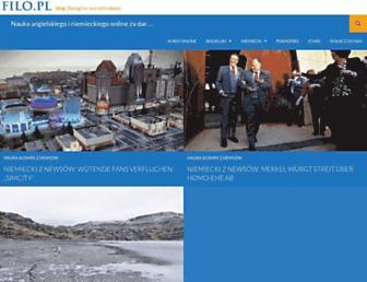 Main page screenshot of filo.pl