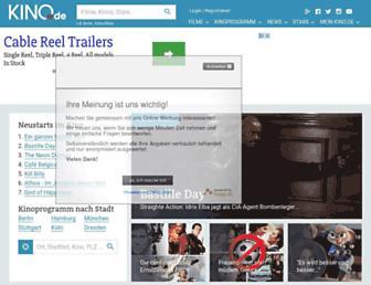 Main page screenshot of kino.de