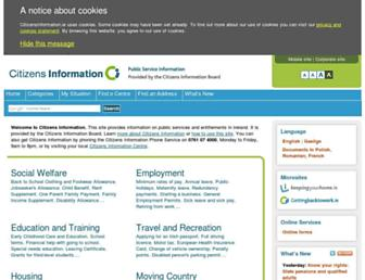 citizensinformation.ie screenshot