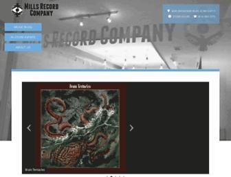 millsrecordcompany.com screenshot