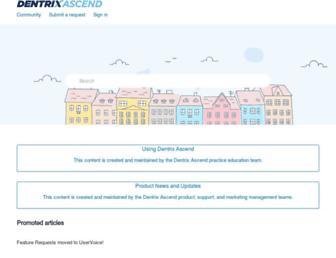 support.dentrixascend.com screenshot