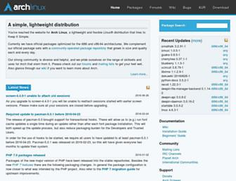 Screenshot for archlinux.org