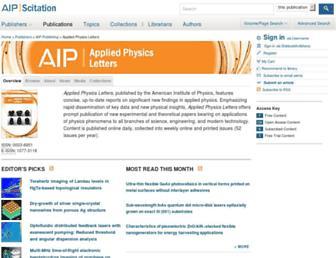 apl.aip.org screenshot