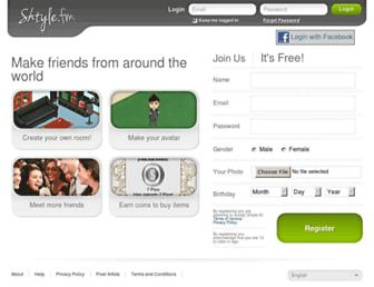 Main page screenshot of shtyle.fm