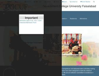 gcuf.edu.pk screenshot