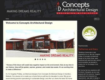 conceptsdesign.co.nz screenshot