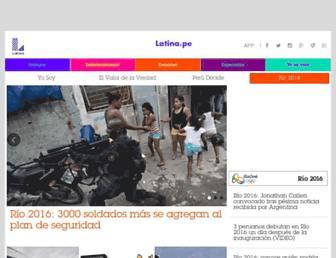 latina.pe screenshot