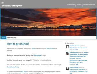 blogs.brighton.ac.uk screenshot