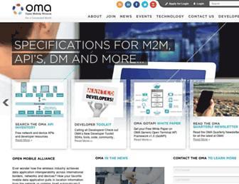 openmobilealliance.org screenshot