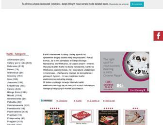 Main page screenshot of e-kartki.net.pl