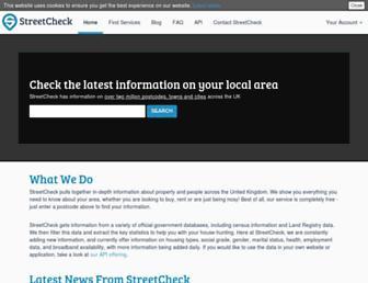 streetcheck.co.uk screenshot