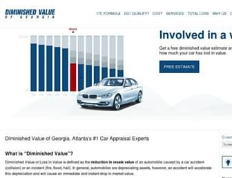 diminishedvalueofgeorgia.com screenshot