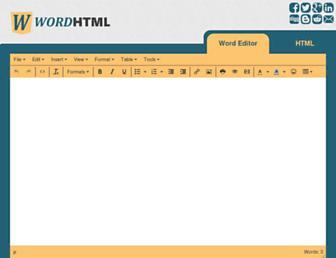 wordhtml.com screenshot
