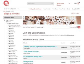 community.qvc.com screenshot