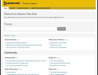 support.sisense.com screenshot