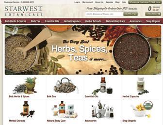 Thumbshot of Starwest-botanicals.com