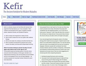 Main page screenshot of kefir.net