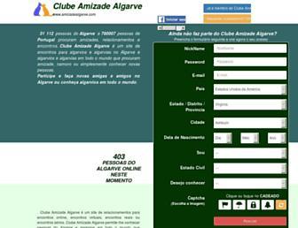 amizadealgarve.com screenshot