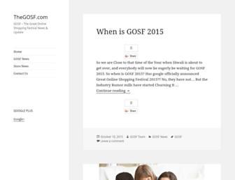 Thumbshot of Thegosf.com