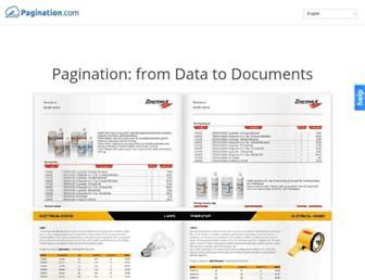 pagination.com screenshot