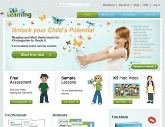 k5learning.com screenshot