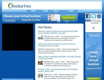 Screenshot for anchorfree.net