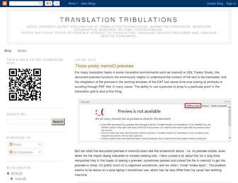 translationtribulations.com screenshot