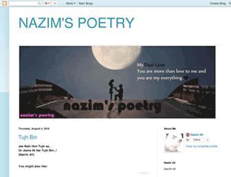 nazimspoetry.blogspot.com screenshot