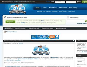 Main page screenshot of motorcycleforums.net
