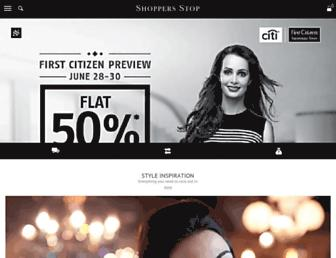 Thumbshot of Shoppersstop.com