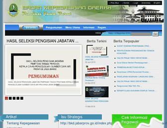 bkd.jabarprov.go.id screenshot