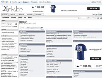 Main page screenshot of belcar.2link.be