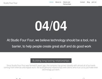 Main page screenshot of studiofourfour.net