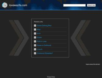 lovewazifa.com screenshot