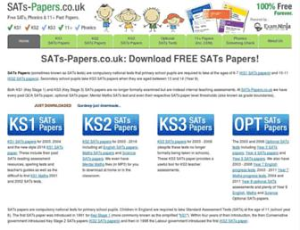 Thumbshot of Sats-papers.co.uk