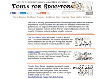 Thumbshot of Toolsforeducators.com
