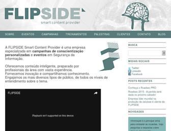 Main page screenshot of flipside-scp.com.br