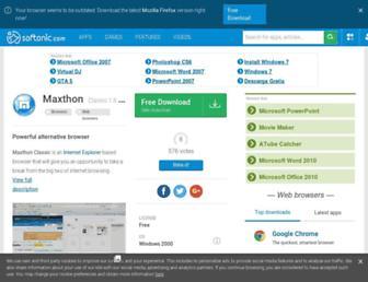 maxthon-classic.en.softonic.com screenshot