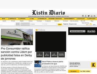 listindiario.com screenshot