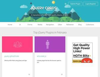 jquerycards.com screenshot