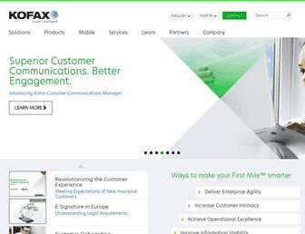 kofax.com screenshot