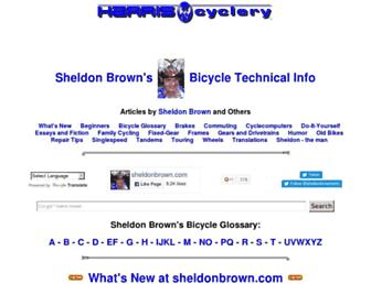 Thumbshot of Sheldonbrown.com